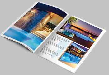 Pool Contractor Brochure Design