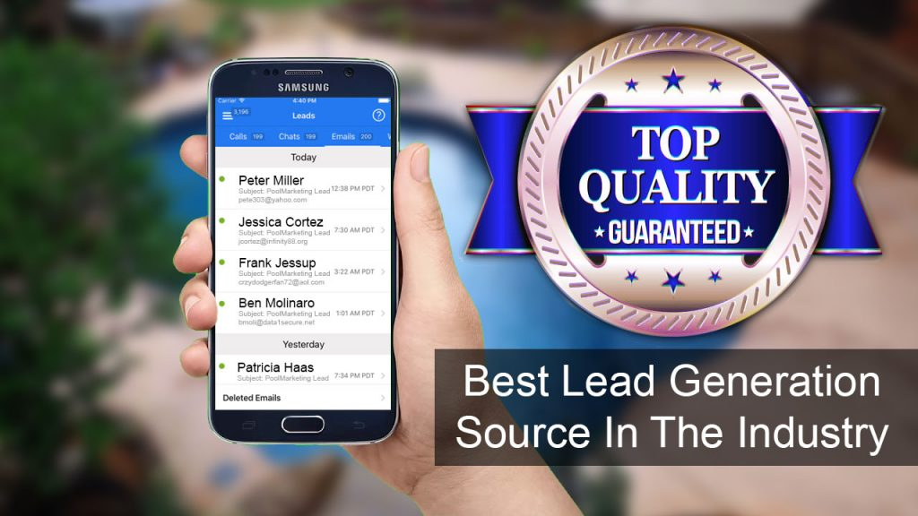 Pool Lead Generation Service - We produce all the pool leads your company will ever need