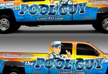 We're The Best Pool Truck Wrap Designers In The Business