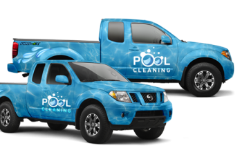 Pool Truck Wraps - We Design Custom Designed Truck Wraps For Your Pool Company