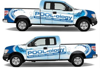 Truck Wrap Designers For Pool Companies, Pool Service Truck Wraps, Pool Builder Truck Wraps