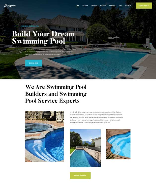 Pool Web Design doesn't have to be so difficult. There are plenty of Pool Website Themes for WordPress that make building a website a snap.