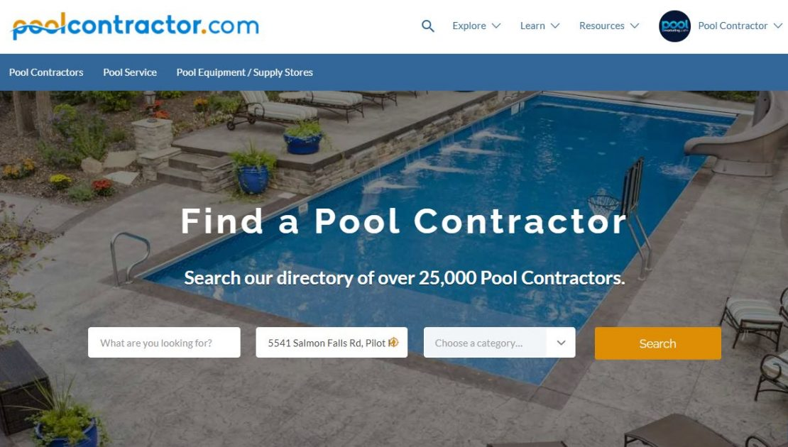 PoolContractor.com is the best way for Pool Builders & Pool Service companies to advertise your pool company.